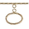 Gold Filled 14kt Toggle Oval Rope Wrap 15x18mm